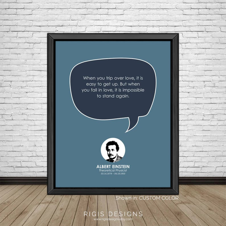 Albert Einstein Famous Quotes Inspirational Quotes Etsy