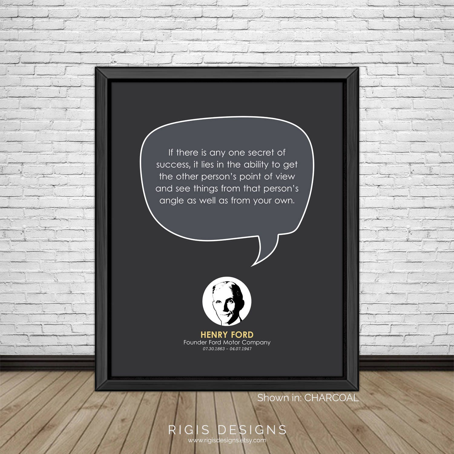 Henry Ford Quote, Entrepreneur, Founder Ford Motor Co.