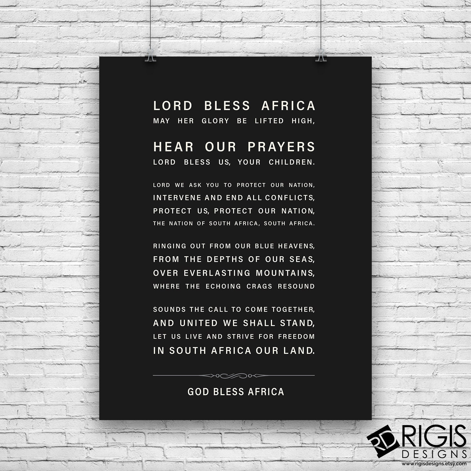 South Africa National Anthem God Bless Africa