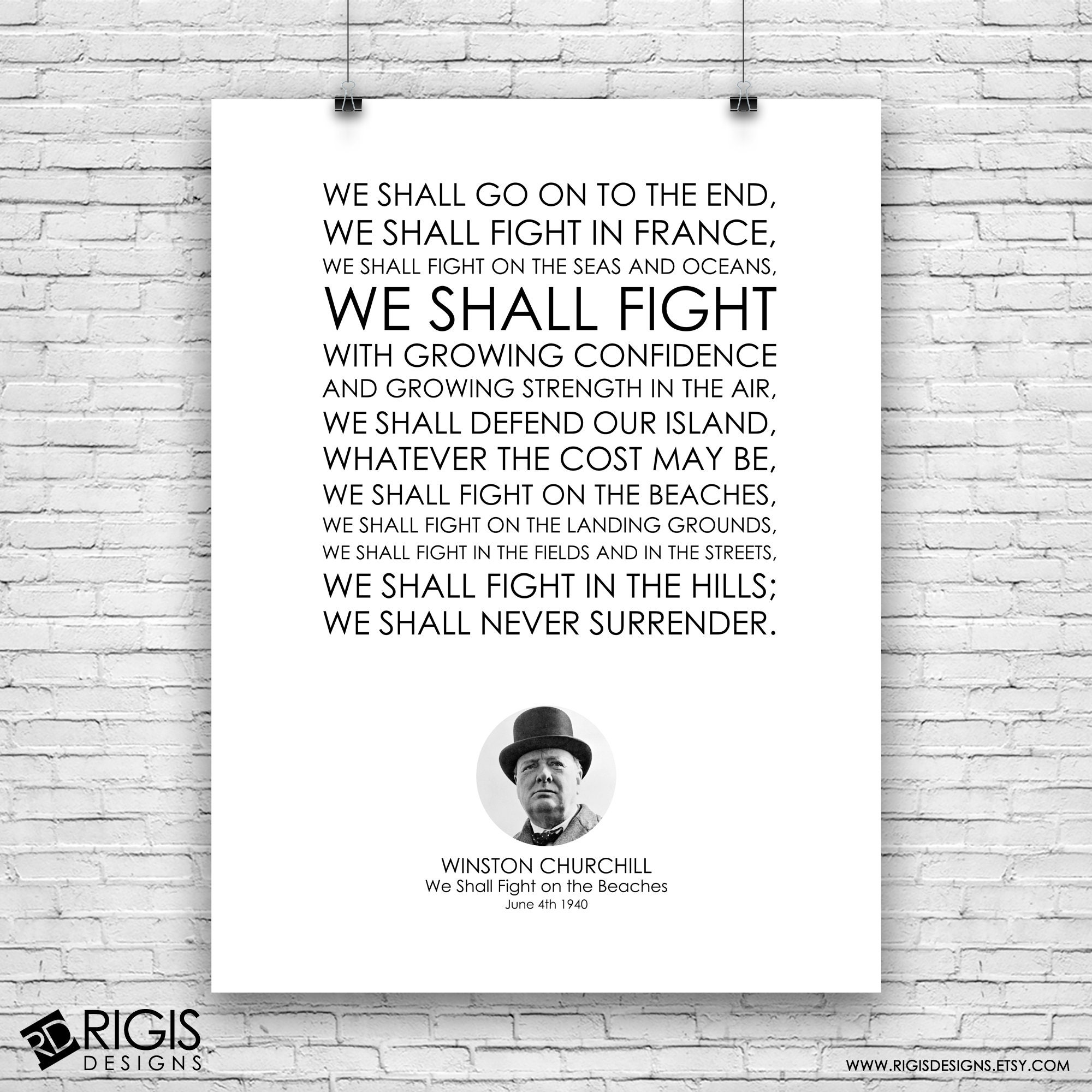Winston Churchill, We Shall Fight on the Beaches