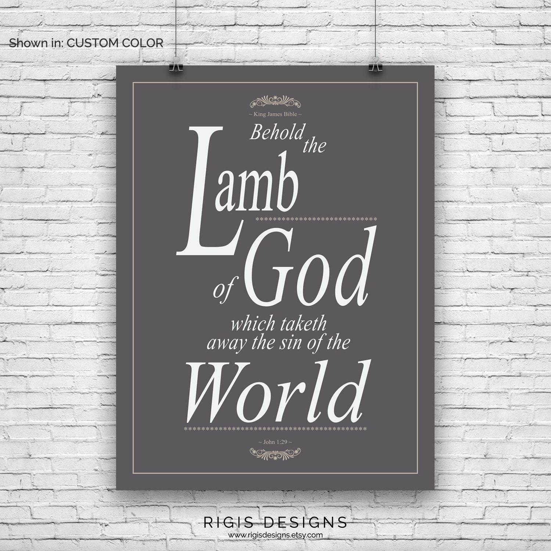 Bible Verse Art Print, John 1:29