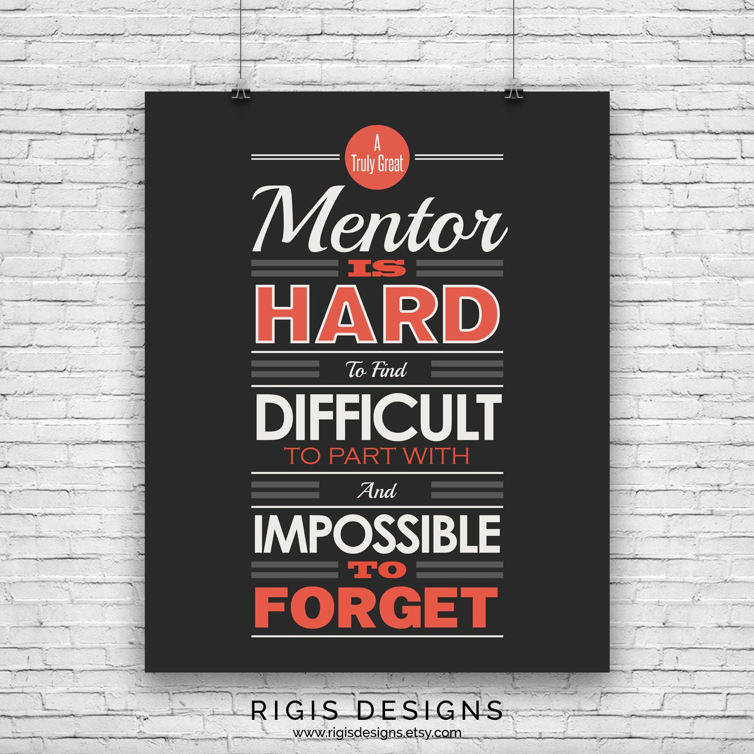 Mentor, Gym Motivation Poster
