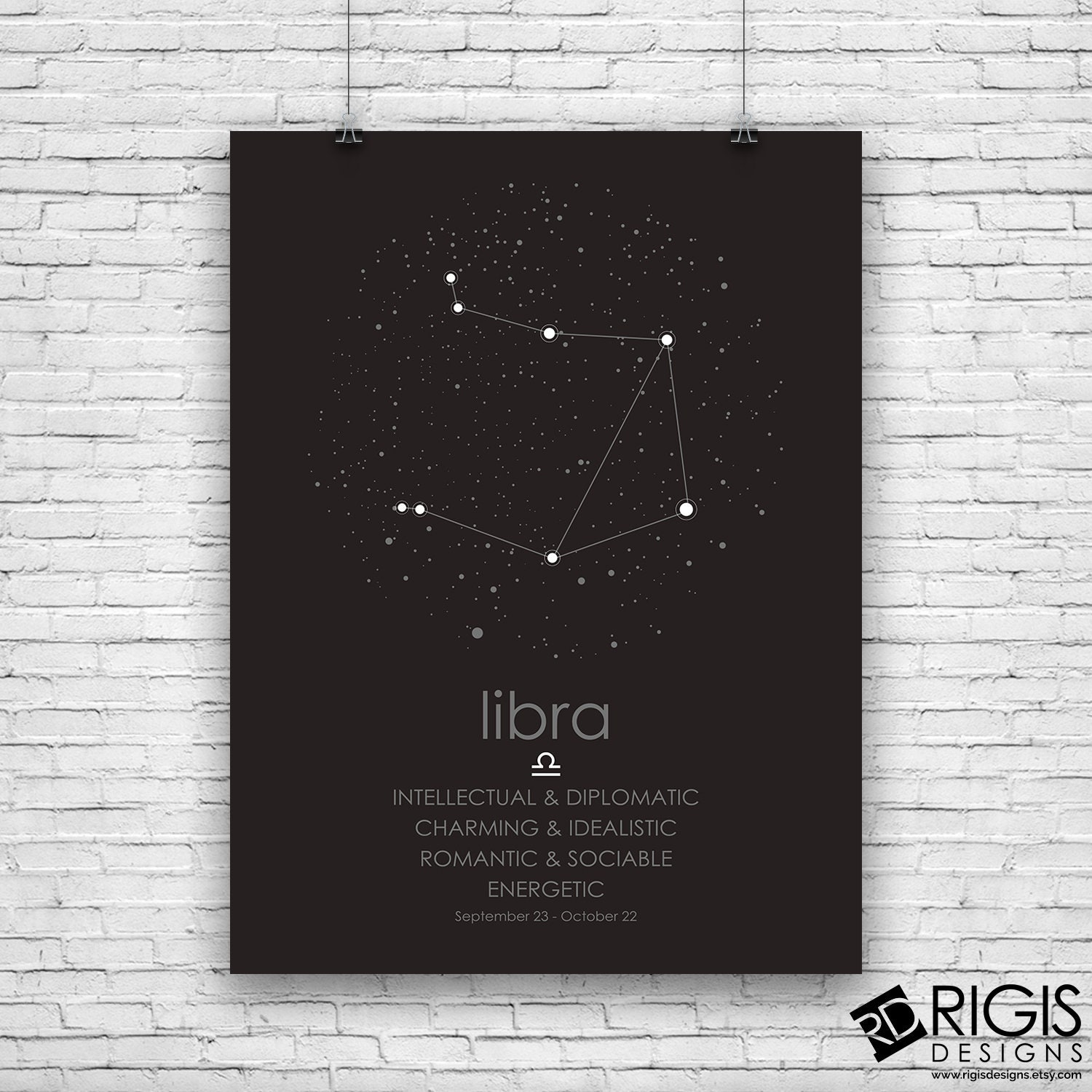 Libra Zodiac Sign, Astrology Print