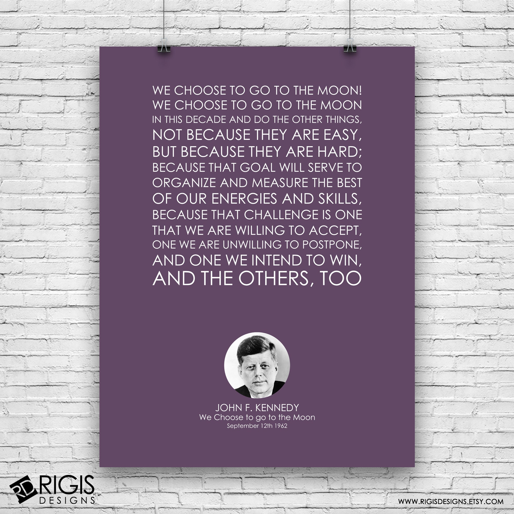 John F. Kennedy, We Choose to go to the Moon Speech