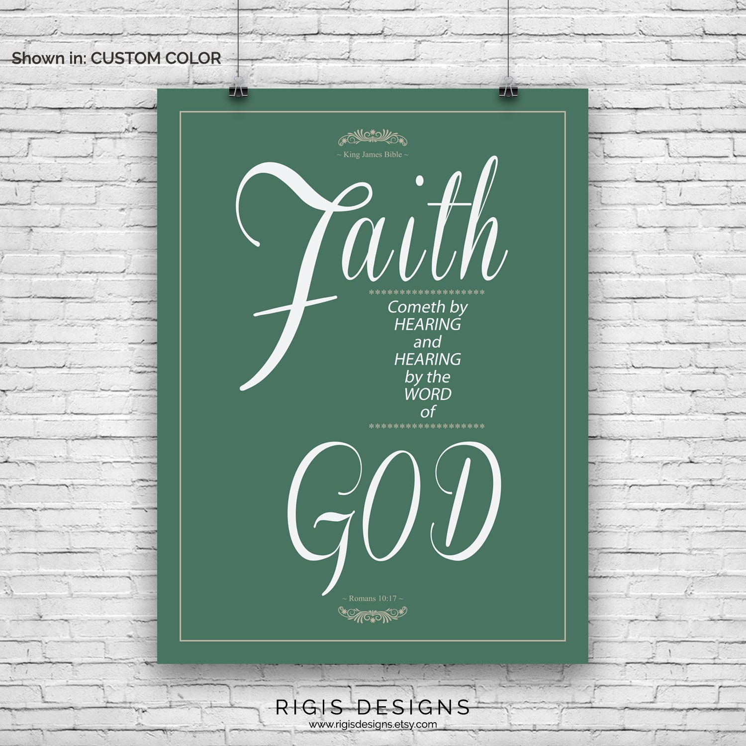 Bible Verse Art Print, Romans 10:17