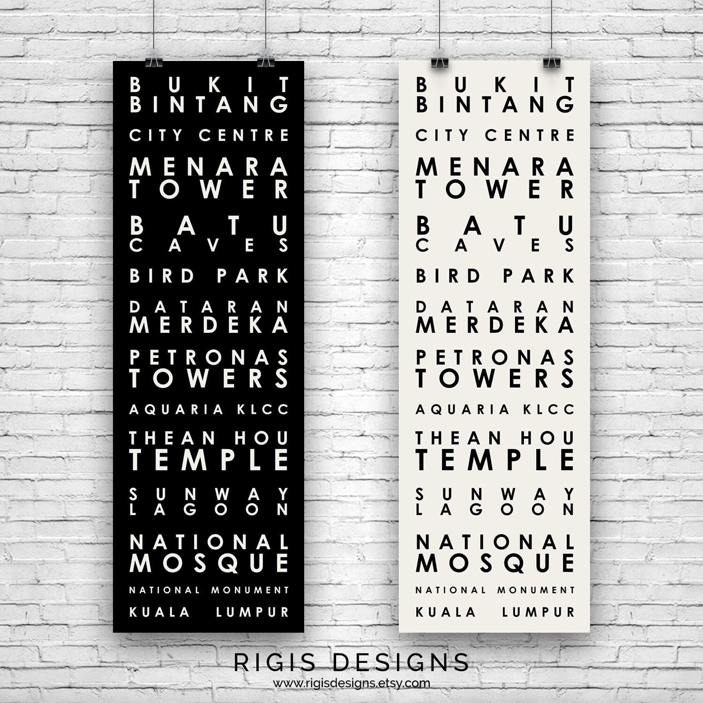 Kuala Lumpur Malaysia Travel Poster