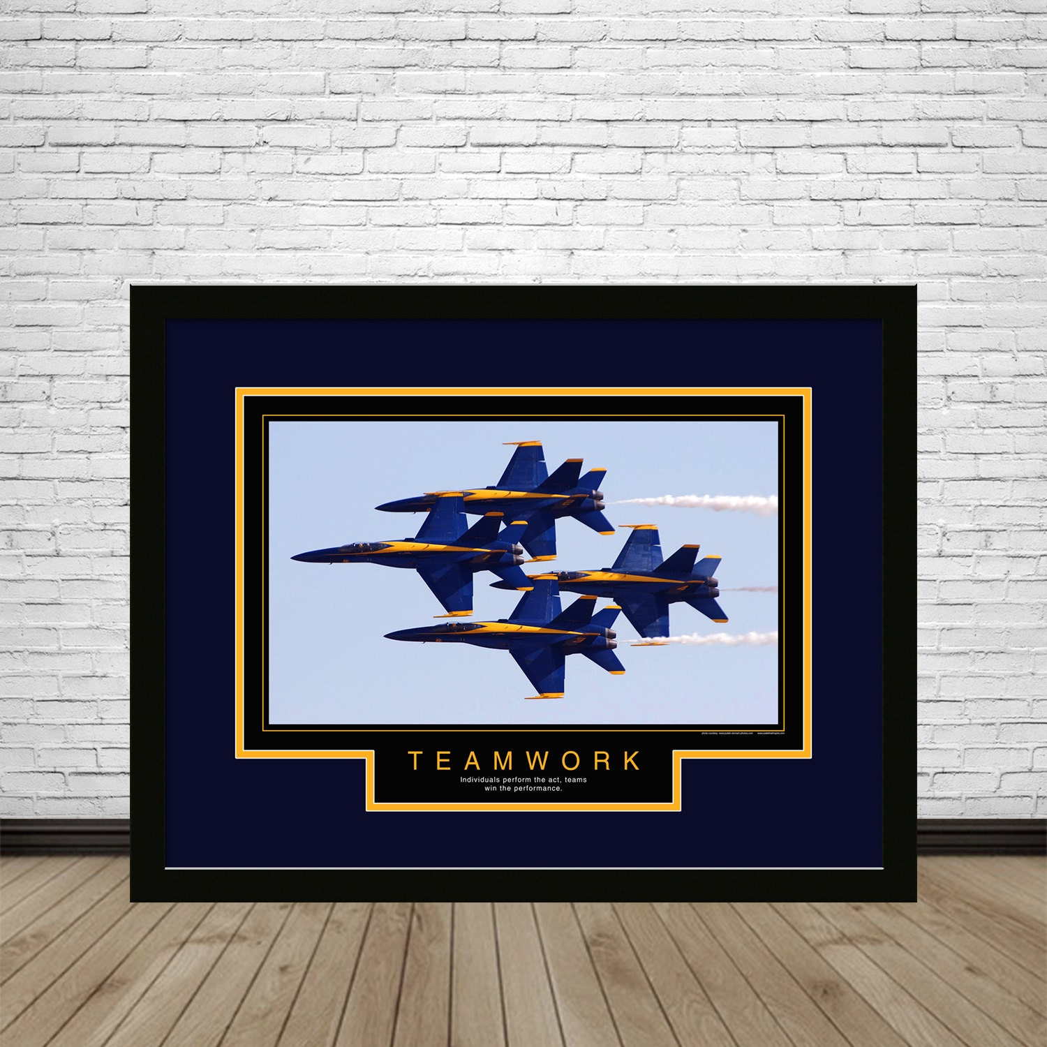 Teamwork Blue Angels, Motivational Poster