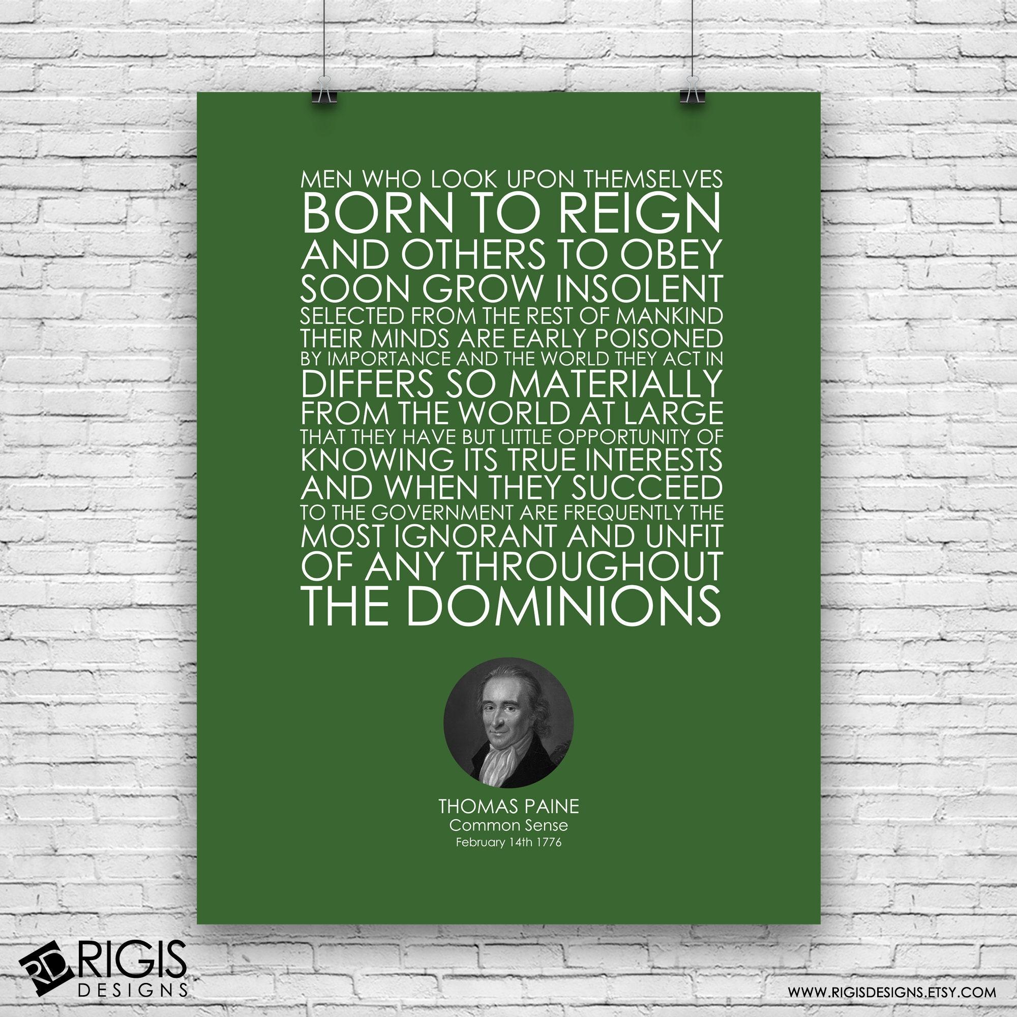 Thomas Paine, Common Sense Speech