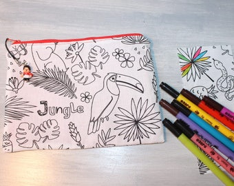 Kit for kids, washable, practical and unique, the jungle pattern