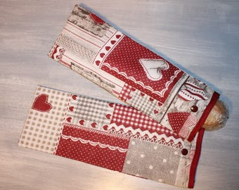 2 bags in sandwich wand reusable eco friendly, hearts pattern