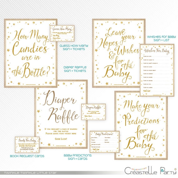 Burlap and gold glitter Twinkle, twinkle, little star baby