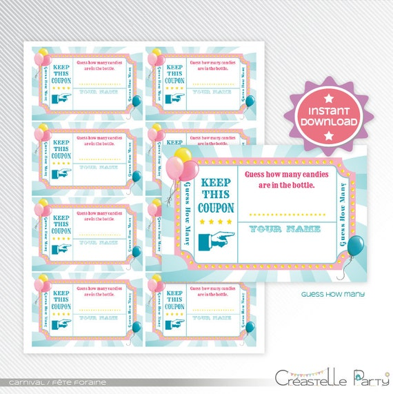 graphic relating to Circus Circus Coupons Printable known as Purple carnival / circus bet how a lot of, boy or girl shower match