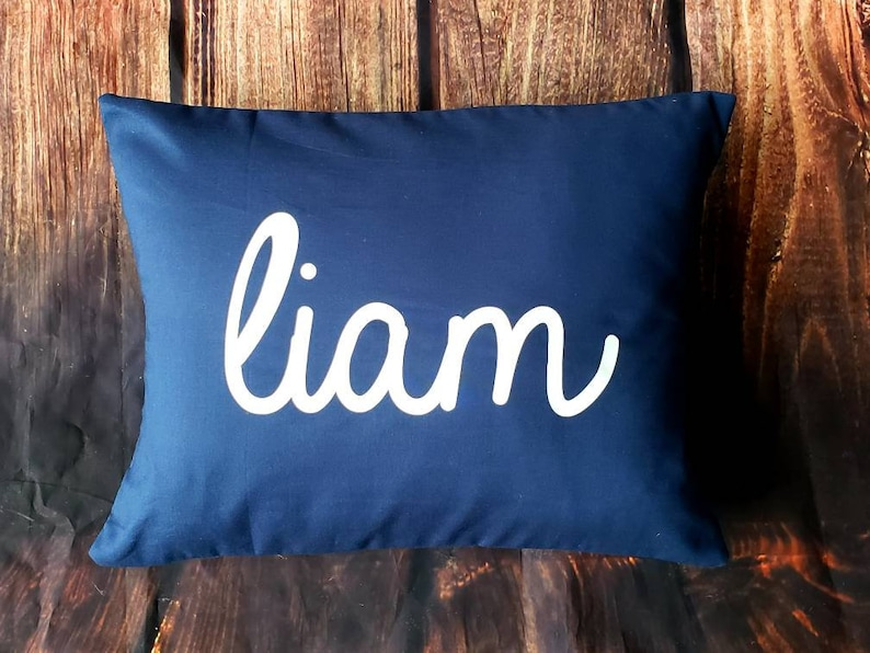 Custom print colors Custom made personalized name white cotton pillow cover