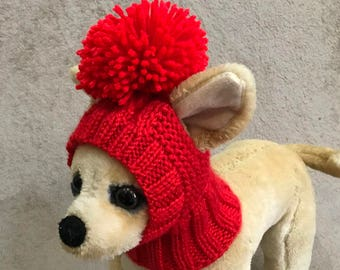 bae0373b050 Pet Clothes Apparel Winter Outfit Knit Dog Hat for Small Dogs Hand Knitted  Hoody Snow Hat Nice Gift