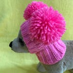 Pet Clothes Apparel Winter Snow Hat Pullover Hoodie Hat with Big Pom Poms  for Small Dog Hand Knitted Nice Gift