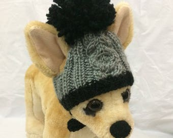 b0b4be1de6e Pet Clothes Knit Hatwith Pom Pom for Small Dog Hand Knitted XS  S XXS Sizes  Nice Gift