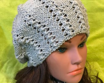 46e95a226a6fa Women Hat Hand Made Slouchy Hat Hand Knit Beanie Winter Extra Large Beret  Nice Gift