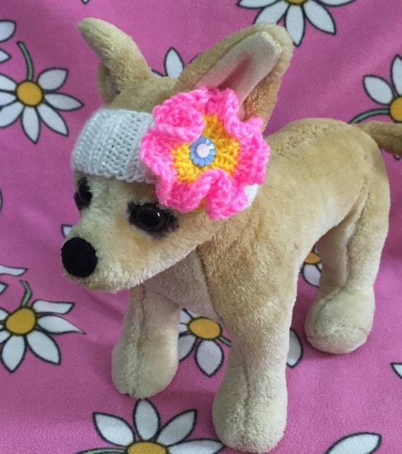 Bandeau en tricot vêtements pour animaux de compagnie pour petit chien à la main tricoté XS; S; Joli cadeau de tailles XXS