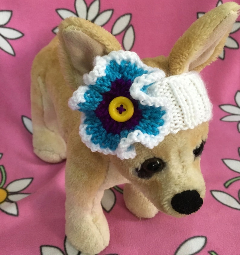 Pet Clothes Knit Headband for Small Dog Hand Knitted XS ;S;XXS Sizes Nice Gift