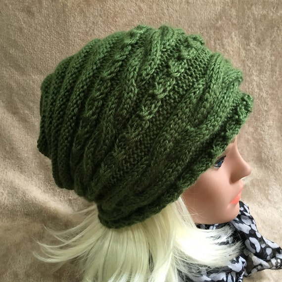 88663120c77ca Women Hat Hand Made Slouchy Hat Knit Hat Soft Vegan Yarn