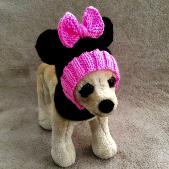 Pet Clothes Apparel Outfit Handmade Knit Visor Hoodie Snow-Hat for Small Dog