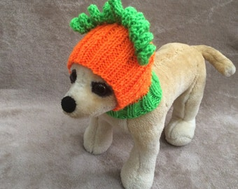 Pet Clothes Apparel Outfit Crochet Halloween Pumpkin Hat  for Small Dog Hand Knitted  Nice Gift