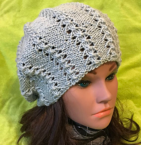 c868e3e3942 Women Hat Hand Made Slouchy Hat Hand Knit Beanie Winter Extra