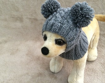 Pet Clothes Apparel Winter Outfit  Dog Hat  for Small Dogs Hand Knitted Hoody Snow Hat Nice Gift