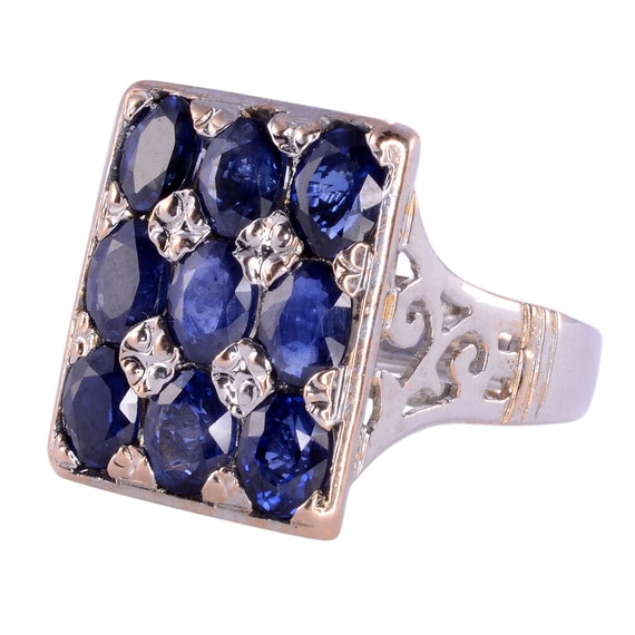 2.7 CTW Sapphire Ring - Sapphire Cocktail Ring - E