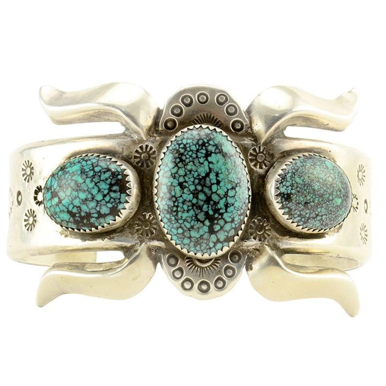 83efff3a638 Navajo Spiderweb Turquoise Cuff Bracelet Native American | Etsy