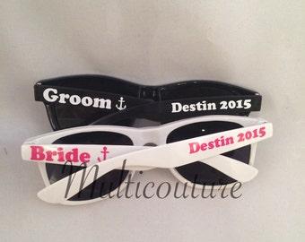Sunglasses: Bridal party vinyl monogrammed sunglasses