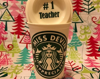 Starbucks cup personalized, reusable starbucks cup, BPA free coffee cup, syarbucks tumbler. Free personalization on lid!!