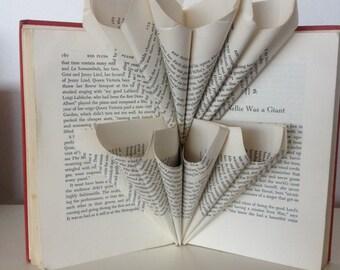 Folded book art - The Scarlett Tree