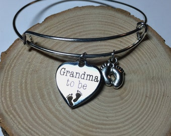Grandma to be bangle pregnancy announcement surprise pregnancy gift for grandma baby on the way announcement expecting promoted to grandma
