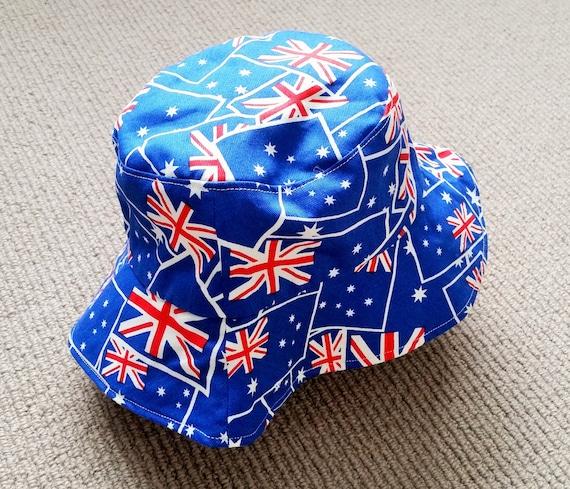 Toddler  Kids Reversible Bucket Hat Australian Flags   fce6a061ae6