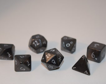 Hand Painted Dice in Gunmetal Gray