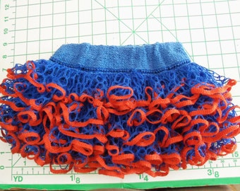 Baby or toddler ruffled skirt. Blue & orange....Show your team spirit!