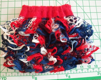 Baby or toddler ruffled skirt. Red, white & blue. Great for 4th of July!