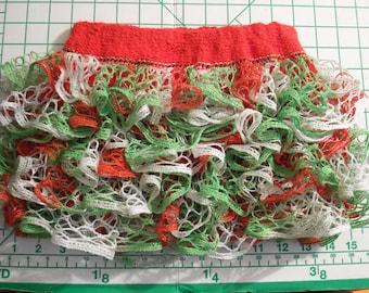 Baby or toddler ruffled skirt....Christmas colors with sparkles
