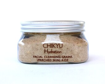 Facial Cleansing Grains, Botanical Face Scrub, Organic Face Polish, Face Scrub for Dry Skin - Hydration (Parched Skin) 4oz
