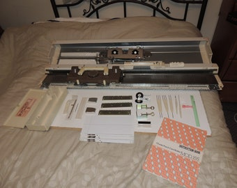 SINGER 155 Knitting Machine Complete w Accessories, Manual Box VGUC