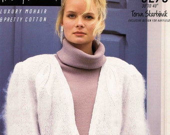 Lady's Cardigan - Size 76 to 102 cm (30 to 40 inches) - Hayfield Torun Skarbovik Mohair 3276 - Vintage Knitting Pattern