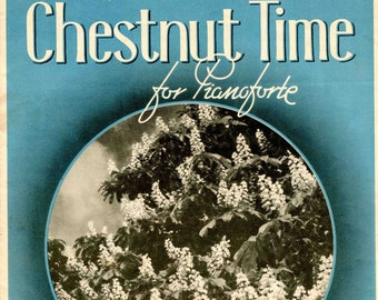 Chestnut Time Sheet Music by Daisey Moore Piano Vintage 1923 very good condition