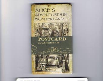 Alice in Wonderland Illustration Postcard Set