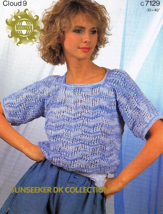 "Sirdar DK  Knitting Pattern Ladies  Sweater Jumper  Size 30//40/"""