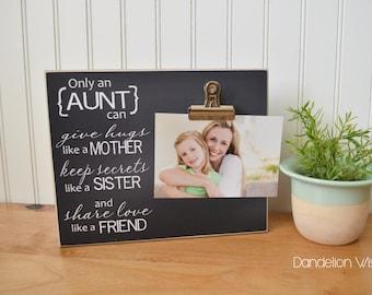 Birthday Gift for Aunt, Custom Photo Frame Auntie Gift, Auntie Picture Frame, Birthday Gift for Auntie, Personalized Aunt Gift, Aunt Frame