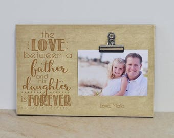 Valentines Day Gift For Dad Father And Daughter Picture Frame Birthday Idea Daddy