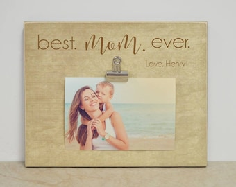 Best Mom Ever Frame Etsy