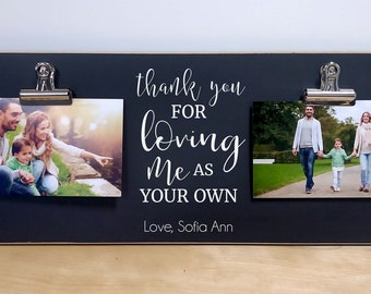 Gift For Stepdad Personalized Photo Frame Stepfather Fathers Day Idea Step Dad Thank You