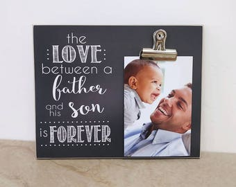 valentines day gift for dad the love between a father and sons is forever father son gift custom picture frame dad photo frame